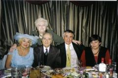 На юбилее Тани Алексиной. Таня, Анатолий, я и Ирина.